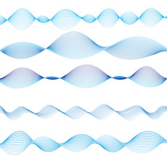 Graphic blue waves