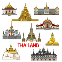 Historic buildings and sightseeings of Thailand