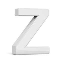 3D rendering white letter Z