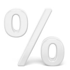 white percent sign