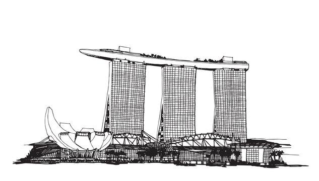 singapore city sketch