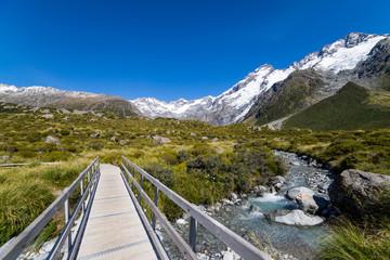 Hiking trail across a creek