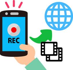 スマートフォンでの動画撮影とアップロード