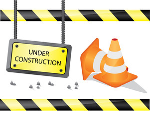 under construction sign illustration