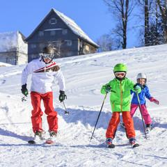 Skifahren lernen mit dem Skilehrer