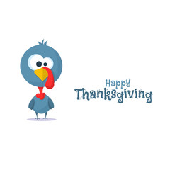Cartoon of turkey bird for Happy Thanksgiving celebration, can be use as flyer, poster or banner.