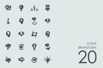 Set of brainstorm icons