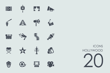 Set of Hollywood icons