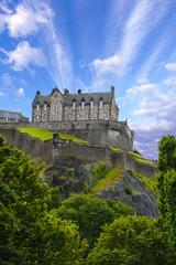 Edinburgh Castle over blue sky