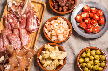 Delicious Spanish Tapas Food