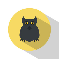 Owl. Icon. Halloween. All Saints' Day. Frighten. Night-bird. For your design