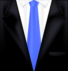 abctract black and blue suit