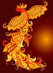 A mythical fire bird.