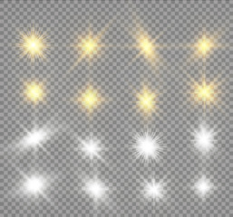 Glow light effect. Star burst with sparkles. sunlight.