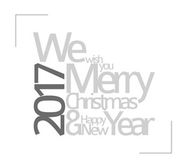 Abstract vector typography Christmas card