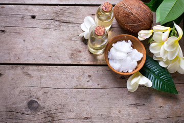 Spa set with coconuts.