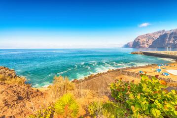 Deurstickers Canarische Eilanden Cliffs and beach of Los Gigantes - Tenerife