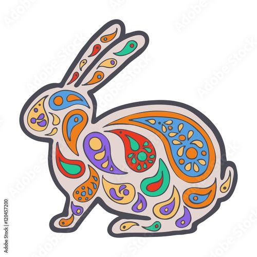 Zentangle And Zendoodle Hare Zen Tangle Doodle Animal Coloring Book Wildlife