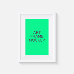 Realistic picture frame mockup