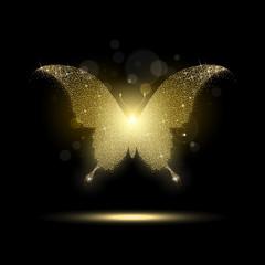 Shiny Golden Butterfly