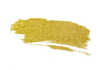 Gold glitter painted abstract background