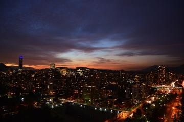 Amazing sunset in Santiago Chile