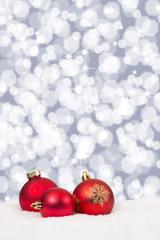 Rote Weihnachtskugeln Weihnachten Sterne Hintergrund Weihnachtsk