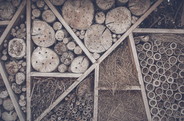 Abstract background with wood logs