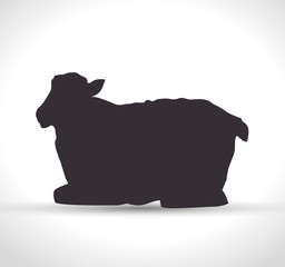 silhouette sheep manger isolated design vector illustration eps 10