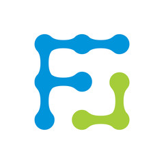 Modern Abstract F Laboratories Logo