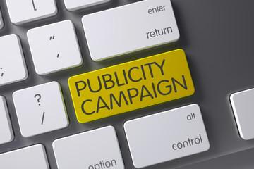 Publicity Campaign Keypad. 3D Illustration.