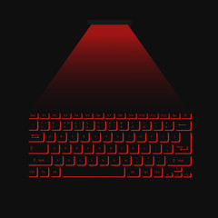 virtual laser keyboard red