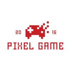 Pixel game joystick as a  vector illustration flat style