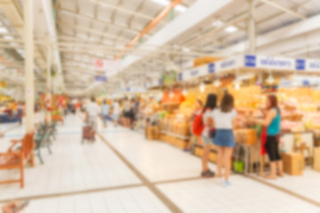 Abstract blurred Market place for business background.