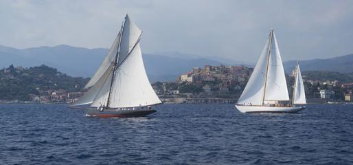 Regatta in the Gulf of Imperia, Italy