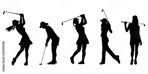 Golf Girl Silhouettes Stock Image And Royalty Free Vector Files On
