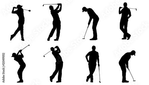 Golf Silhouettes Stockfotos Und Lizenzfreie Vektoren Auf Fotolia
