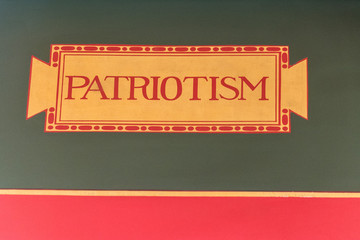 Wall Mural - patriotism wtiting inside Washington National Library of Congress