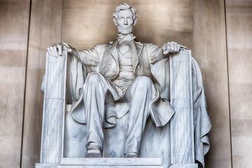Abraham Lincoln statue at Washington DC Memorial Fotomurales