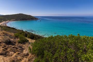 A view of Mari Pintau beach, Quartu Sant'Elena, Cagliari, Sardin