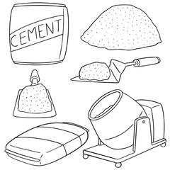 vector set of cement