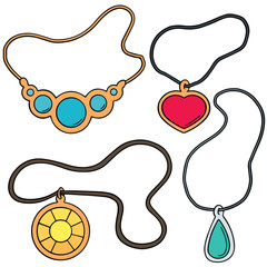 vector set of necklace