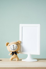 bear with picture frame