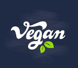 Vegan - handwritten lettering for restaurant, cafe menu.