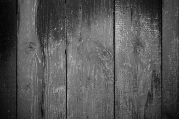 Old wooden planks with peeling paint like background. Toned