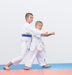 On the tatami older brother trains the younger