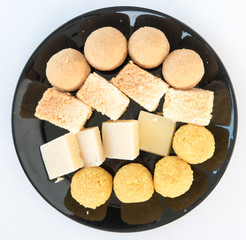 Indian sweets in a plate ready for celebration