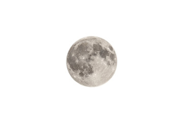The Moon On White