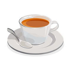 cup of tea. Realistic image isolated on a white background