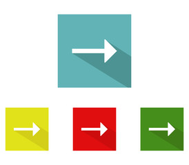 set of vector arrows icons in flat design
